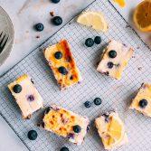 Blaubeer-Cheesecake-Schnitten Rezept