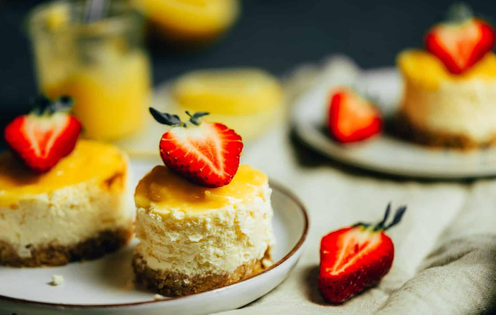 Cheesecake Törtchen mit Lemon Curd Rezept