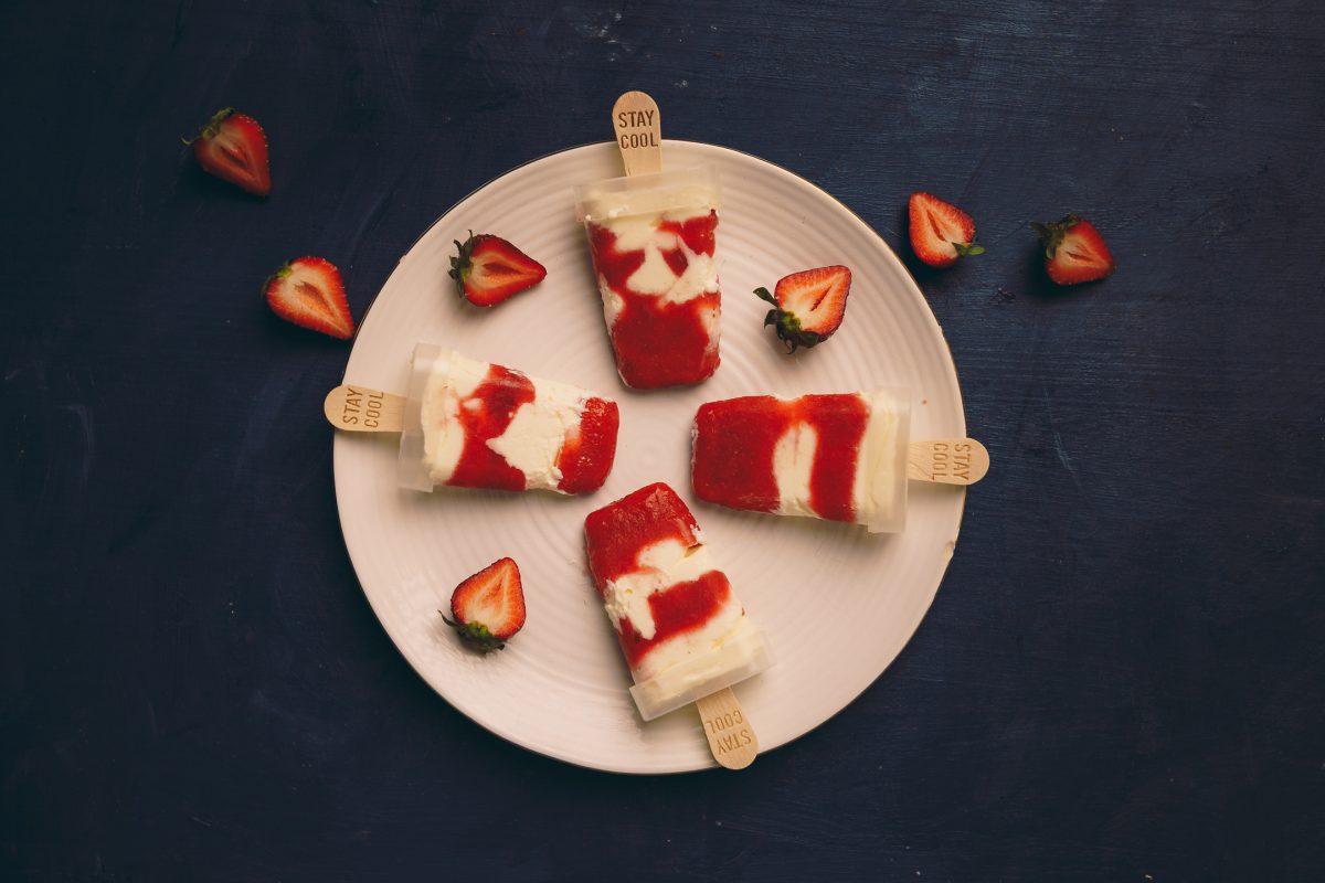 Erdbeer-Mascarpone-Eis ohne Eismaschine