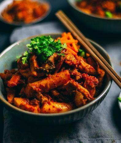 Rezept für koreanisches Dak Galbi auf deutsch