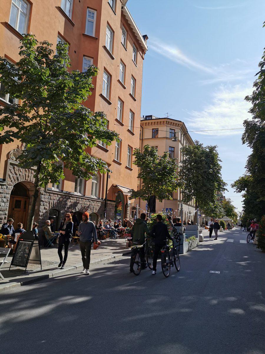 Die Straßen Södermalms im Sommer