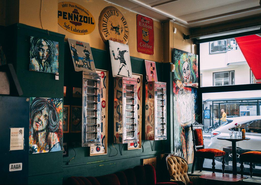 Kunst im Café String in Stockholm