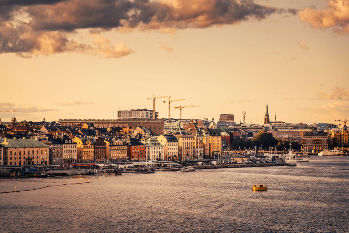 Der Blick über Stockholm von Södermalm aus