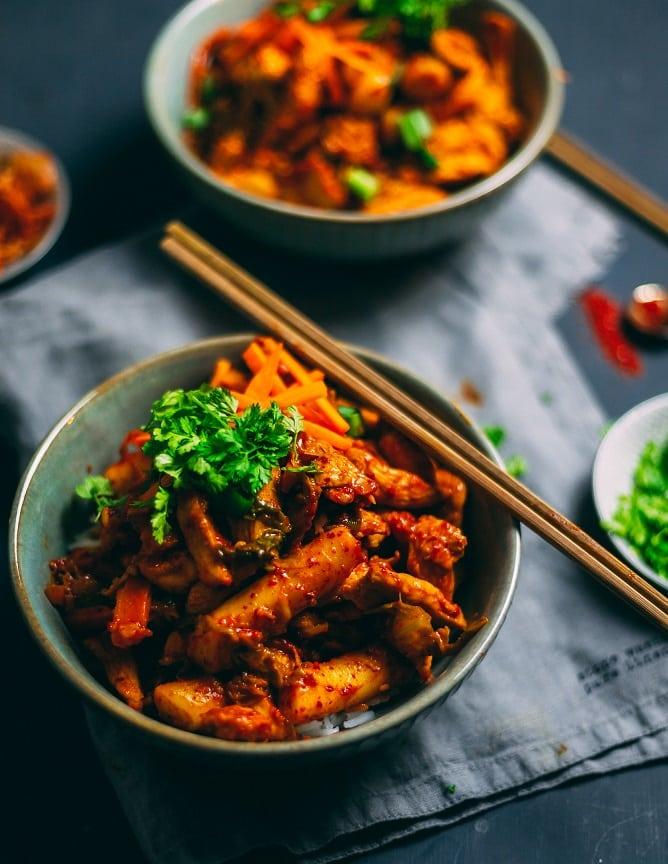 Koreanisches Dak Galbi Rezept