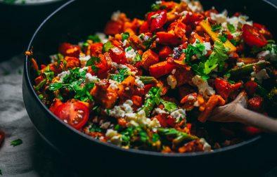 Süßkartoffel Gemüse Feta Auflauf Rezept